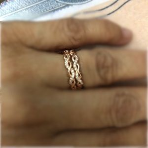 14 KT Rose Gold 925 Sterling Silver Rings 2
